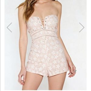 NWT Nasty Gal Thank Your Lucky Stars Romper